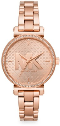 Michael Kors Sofie Three-Hand Rose Goldtone Stainless Steel Watch