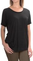 Lilla P Warm Viscose Pocket T-Shirt - Short Sleeve (For Women)
