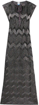 M Missoni Metallic Zig-Zag Pattern Dress