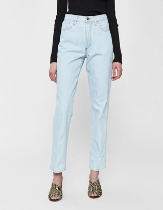 Gold Sign Women's Classic Fit Jean in Pressed Chalk Blue, Size 25 | 100% Cotton