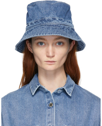 Sunnei Blue Denim Hat