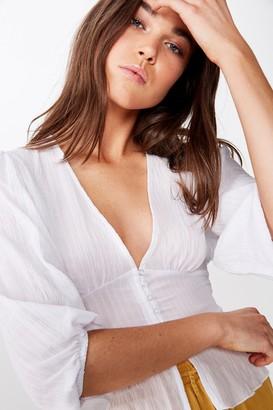 Cotton On Hazel Blouson Sleeve Blouse