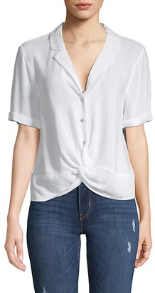BCBGeneration Twist Front Buttoned Shirt