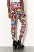Topshop Monster Comic Print Leggings