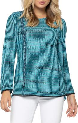 Nic+Zoe Line Of Work Textured Cotton-Blend Sweater