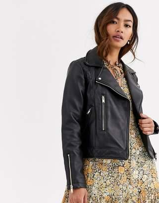 Pimkie faux leather biker jacket in black