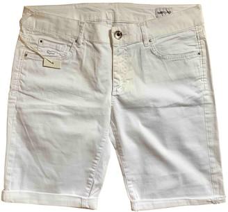 Gas Jeans White Cotton Shorts