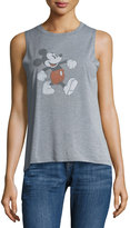 David Lerner Walking Mickey Graphic Muscle Tank