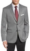 JB Britches Men's Classic Fit Herringbone Wool Sport Coat