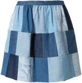 RED Valentino patchwork denim skirt