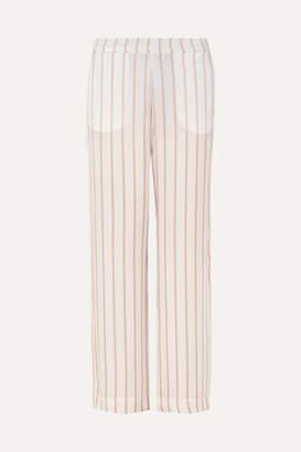 Off-White Asceno ASCENO - Striped Silk-satin Pajama Pants