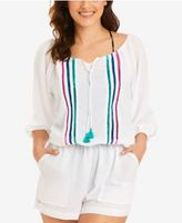 Vera Bradley Kiera Crochet-Trim Romper Cover-Up