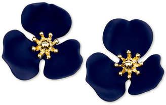 Zenzii Gold-Tone Painted Flower Stud Earrings