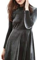 Topshop Velvet Skater Dress