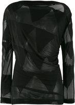Vivienne Westwood sheer bunting blouse - women - Polyester/Viscose - M