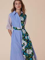 Diane von Furstenberg 3⁄4-Sleeve Belted Shirtdress