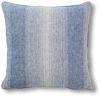 One Kings Lane Anna 20x20 Pillow - Chambray Stripe