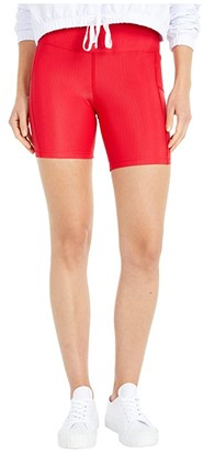Beach Riot Toni Bike Shorts (Red) Women's Shorts