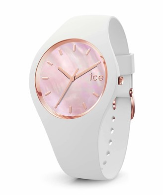 Ice Watch Ice-Watch - ICE pearl White pink - Women's wristwatch with silicon strap - 016939 (Small)