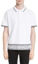 Kenzo Men's Logo Hem Tipped Polo