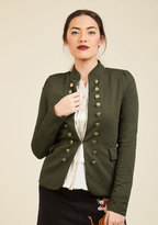 ModCloth I Glam Hardly Believe It Jacket in Olive in S