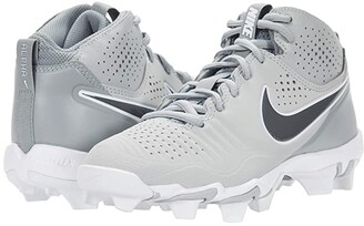 Nike Kids Alpha Huarache 3 Keystone BG Baseball (Toddler/Little Kid/Big Kid) (Light Smoke Grey/Iron Grey/Smoke Grey/White) Kid's Shoes
