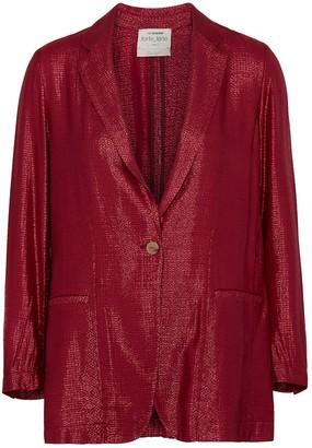 Forte Forte Mozaik metallic red jacquard blazer
