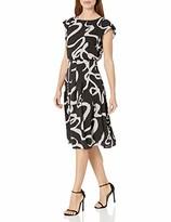 Adrianna Papell Women's Dotted Ribbon Blouson Dress