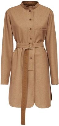 Lemaire Liquette Wool Blend Shirt Dress