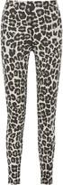 Bottega Veneta Leopard-print stretch cotton-blend jersey tapered pants