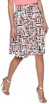Renee C Printed Midi Skirt