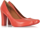 Marc by Marc Jacobs Coral Red Leather Pump