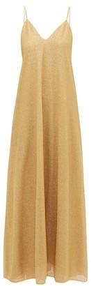 Oseree Lumiere Lame Slip Dress - Gold