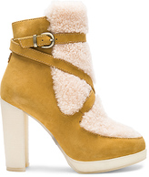 Australia Luxe Collective Mercy Shearling Heels in Tan