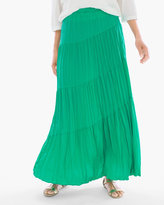 Chico's Tiered Crinkle Maxi Skirt