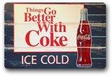 """DanielGallo Sweetshow Custom Ice Coca Cola Bottles Indoor/Outdoor Doormat Door Mat Decor Rug Non Slip Mats 23.6""""(L) x 15.7""""(W)"""
