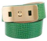 Diane von Furstenberg Embossed Leather Belt