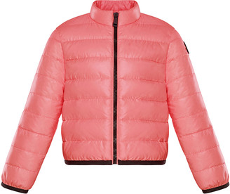 Moncler Girl's Photine Quilted Logo Down Jacket, Size 8-14