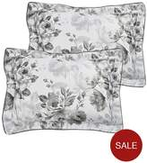 Dorma Watery Rose 100% Cotton 300 Thread Count Oxford Pillowcase Pair