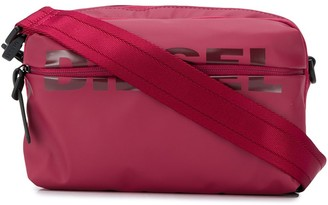 Diesel logo print crossbody bag