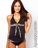 Asos Exclusive Tankini Top with Floral Print - Multi