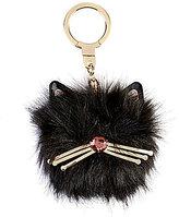 Kate Spade Cat Pouf Faux-Fur Key Fob