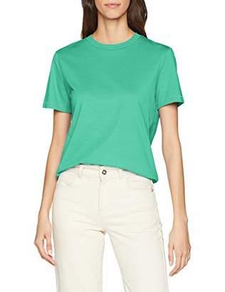 Selected Women's SLFMY Perfect SS TEE Box Cut Color T-Shirt, Gumdrop Green, M