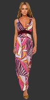 Geo Print Maxi Length Dresses