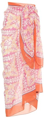 Valentino Exclusive to Mytheresa Printed cotton and silk voile sarong