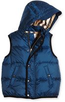 Burberry Carlton Puffer Vest, Ink Blue, Size 4-14