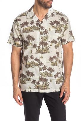 Onia Short Sleeve Vacation Hawaiian Print Shirt