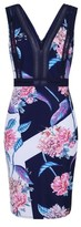 Dorothy Perkins Womens Little Mistress Navy Floral Print Bodycon Dress, Navy