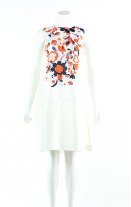 Mulberry White Polyester Dresses