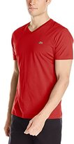 Lacoste Men's Short Sleeve Jersey Pima Regular Fit V Neck T-Shirt